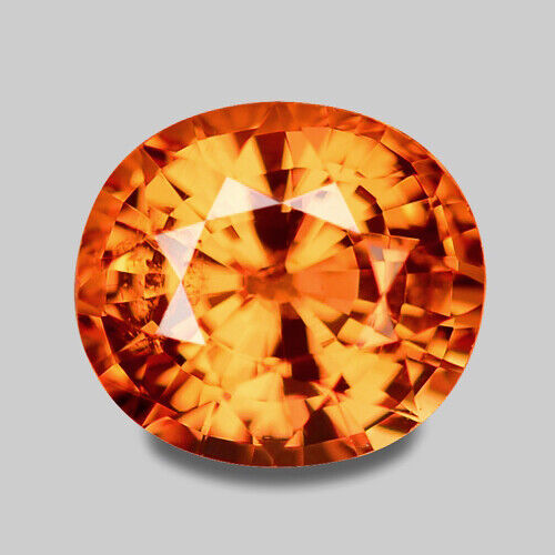 1.13CTS EXCELLENT OVAL CUT NATURAL ORANGE MANDARIN GARNET VIDEO IN DESCRIPTION