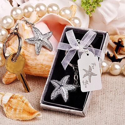50 Starfish Key Chain wedding favors beach theme wedding Bridal Shower - Beach Theme Favors