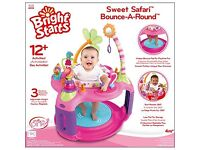 Bright Starts Sweet Safari Bounce-A-Round Baby Activity Centre (Pink)