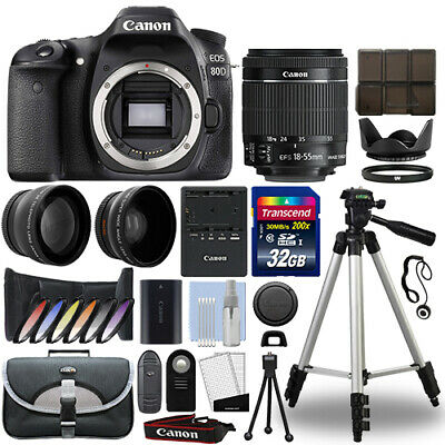 Canon EOS 80D DSLR Camera + 18-55mm IS STM 3 Lens Kit + 32GB Best Value (Best New Canon Dslr)