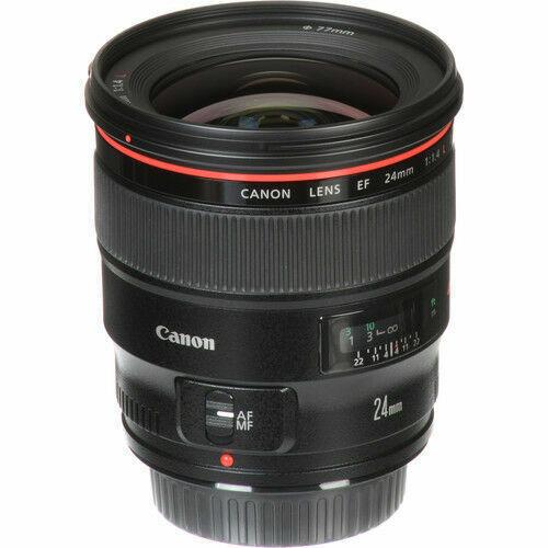 Canon EF 24mm f/1.4L II USM Wide-Angle Lens Black 2750B002