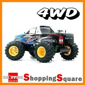 4WD Radio Remote Control Monster Truck Car OFF ROAD RC RTR 1/10, 60KM/hr, ESC