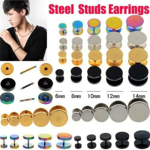 Great-2PCS-Stainless-Steel-Fake-Cheater-Ear-Plugs-Gauge-Illusion-Body-Jewelry