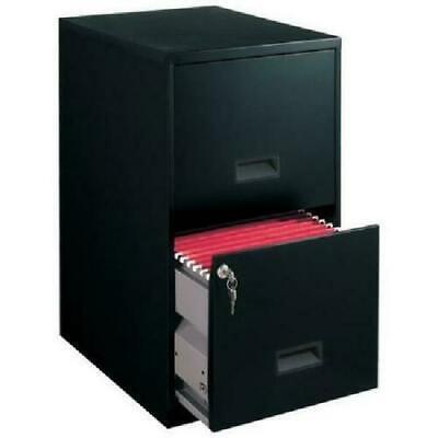 Filing Cabinet 2 Drawer Steel File Cabinet Lock Home Office Durable Black