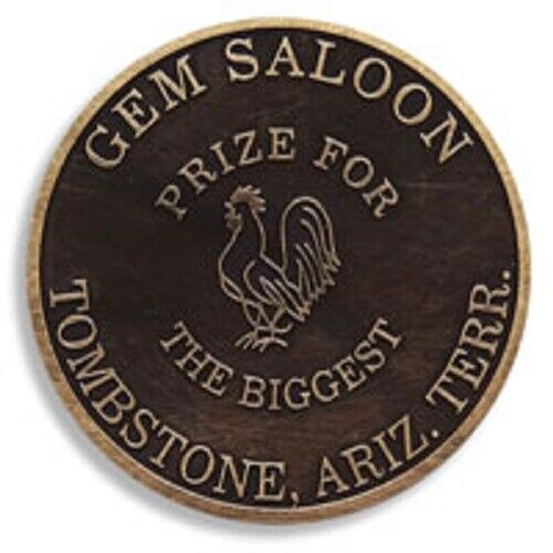 2 Great Brothel Tokens--Gems Saloon and Madame Dumont