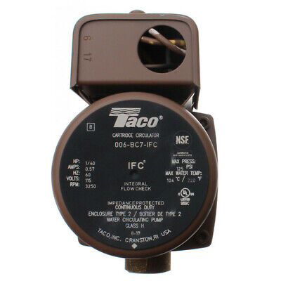 Brand New Taco 006-bc7-ifc 34 Sweat Bronze Circulator Pump Wflow Check 140