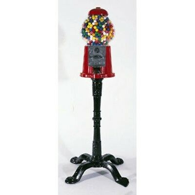 Home Carousel Gumball Candy Gum Vending Machine with Cast Iron Metal Stand Base