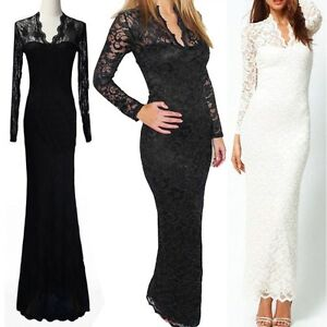 Womens-lace-evening-summer-maxi-dress-bodycon-prom-long-cocktail-party-dress
