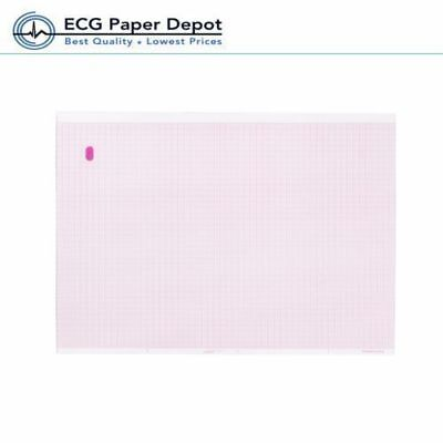 Ecg Ekg Recording 8.44 X 11 Inches Z-fold Sheet Marquette Thermal Paper 2 Packs