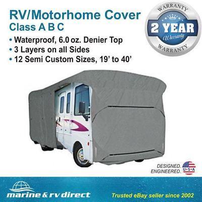 Waterproof RV Cover Motorhome Camper Travel Trailer  25' 26' 27' Class A B C