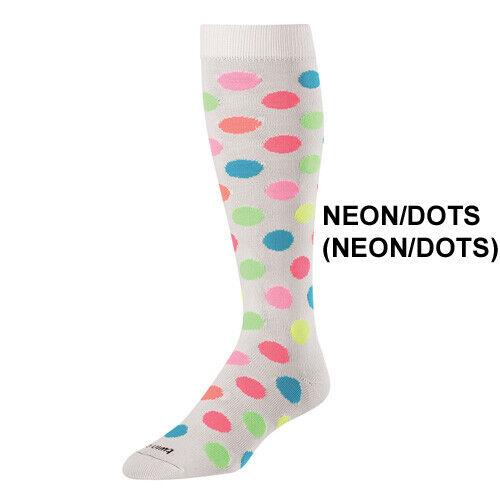 Twin City Krazisox White/Neon Polka Dots - Over-Calf Sock Softball / Lifestyle