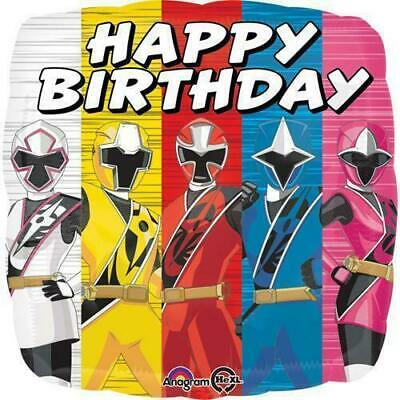 Power Rangers Ninja Steel Birthday Party Decorations Mylar Foil Balloon 18