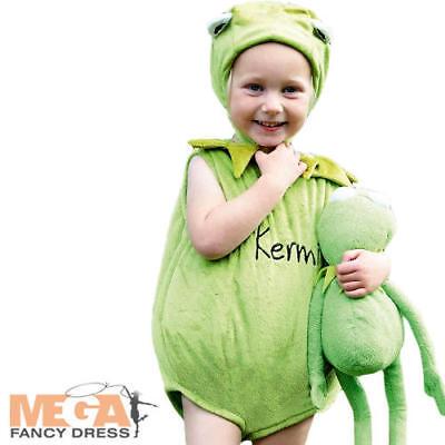 Kermit The Frog Kids Fancy Dress Disney Muppets Animal Boys Girls Infant - Kermit Costume Child