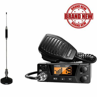 40-Channels Bearcat Compact CB Radio and Tram 703-HC Antenna Kit Center Load