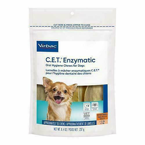 CET Enzymatic Chews For Dogs, X-SMALL Under 11 lbs, 30 Chews, Orange