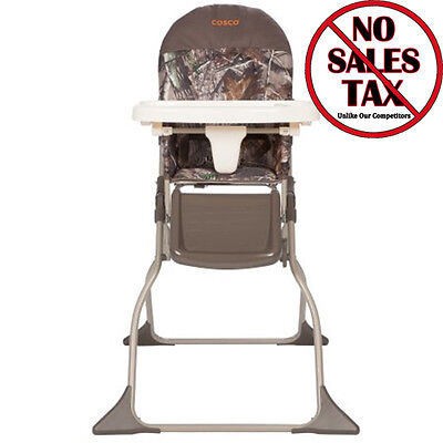 Cosco Baby Toddler High Chair Folding Portable Kid Eat Padded Seat Realtree Camo