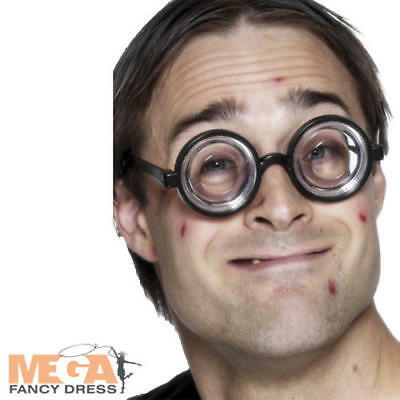 Nerds Costume (Black Nerds Glasses School Fancy Dress Adults Schoolboy Geek Costume)