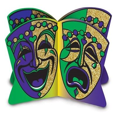 Mardi Gras Centerpiece Decorations (3-D Glittered Mardi Gras Centerpiece Mardi Gras Party Supplies and)