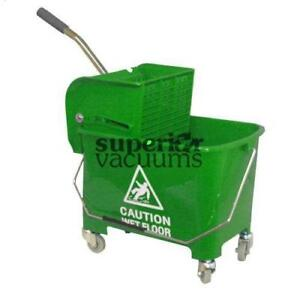 Janitorial Supplies Bucket, 21L With Side Press Wringer Green