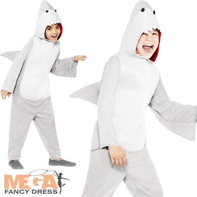 ss Halloween Jaws Sea Creature Animal Boys Girls Costume New (Shark Girl Kostüm)