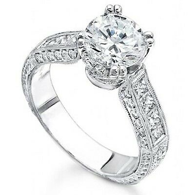 2.74 Ct.Round Brilliant Cut Diamond Engagement Ring GIA