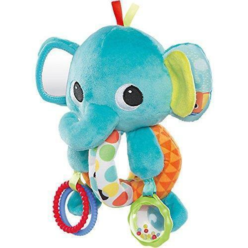 NEW Bright Starts EXPLORE & CUDDLE ELEPHANT Baby Soft Car Se