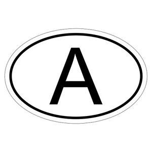 AUSTRIA-A-csd0002-AUTOADHESIVA-Pegatina-Pegatina-Vehiculo-Bandera