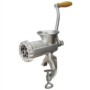 Weston Tinned Manual Meat Grinder.  No. 10