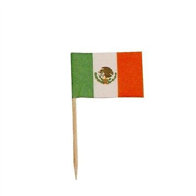 Flag Picks (144 Mexican Mexico Flag Mini Picks)