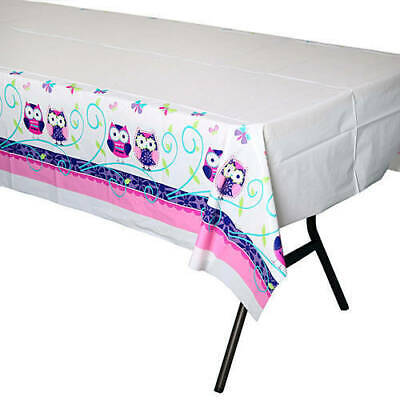 Owl Pal Birthday Party Supplies Table Cover - Owl Birthday Supplies