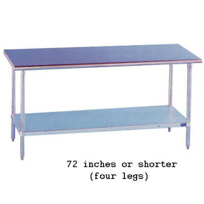 Stainless Steel Work Table 24 Wide Size 96