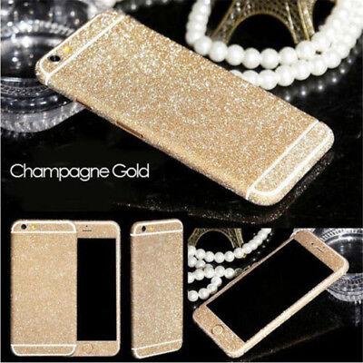 Luxury Bling Glitter Sticker Full Body Slim Cover For iPhone XS Max 8 7 6s Plus