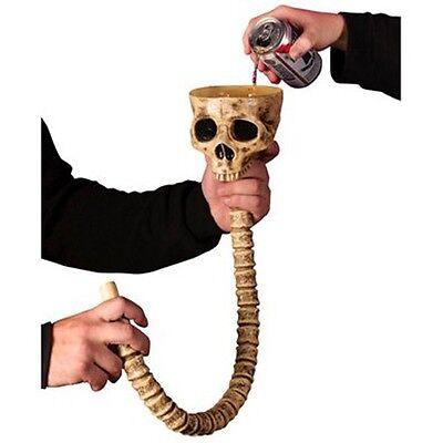 Adult Plastic Drinking Beverage Beer Soda Pop Chug Halloween Party Skull Funnel