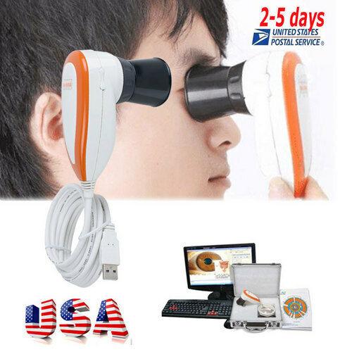 Pro New 5.0 MP USB Iriscope Iris Analyzer Iridology camera Pupilometer+Software