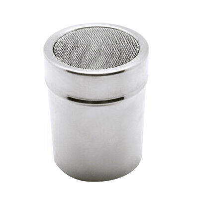 Stainless Steel Chocolate Shaker Icing Cocoa Flour Sugar Cappuccino Sifter & Lid Stainless Steel Shaker