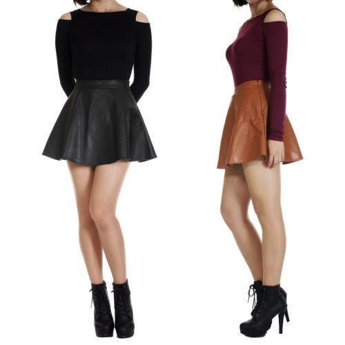 leather skirt ebay