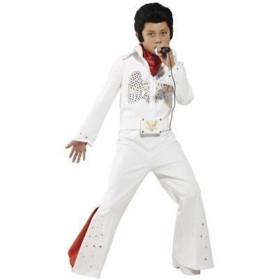 Smi - Karneval Kinder Kostüm Elvis 60er Jahre Rockstar weiß (Elvis Kostüme Kinder)