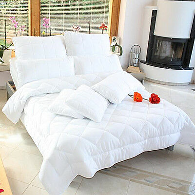 4-Jahreszeiten Bettdecke Steppbett Bett Zudecke alle Größen Auswahl mit Kissen