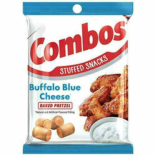 COMBOS Buffalo Blue Cheese Baked Pretzel Stuffed Snacks 6.3-Ounce (1-Large Bag)