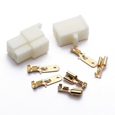 Set 3-pin Plug Connector Tab 6.3 Mm Motorcycle Scooter Car Ad