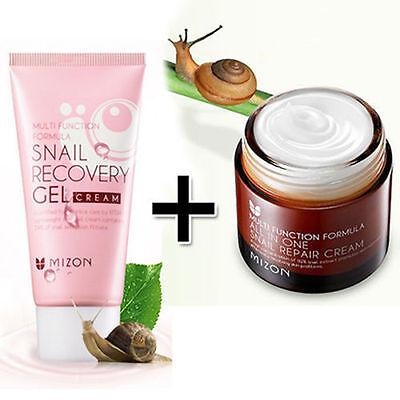 [Mizon] All In One Snail Repair Cream 75g + Snail Recovery Gel Cream 45ml /Korea