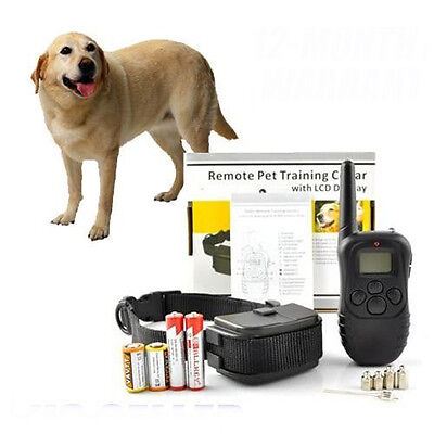 NEW LCD 100LV Level SHOCK&VIBRA REMOTE PET DOG TRAINING COLLAR For 20-130lb Dog on Rummage