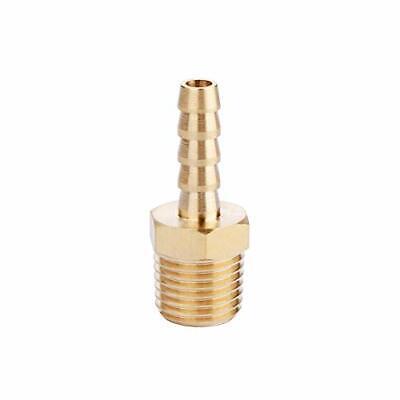 U.s. Solid Brass Hose Fitting 18 Npt X 14 Barb Adapter