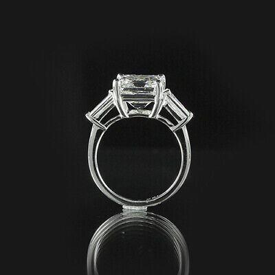 1.51ct GIA 18K White Gold Emerald Cut Diamond Engagement Ring F/SI1 (2156958055) 2