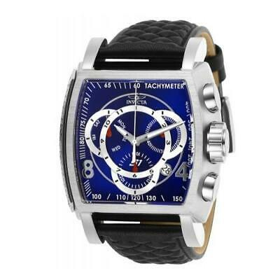 Invicta S1 Rally 27920 Men's Blue/Black Genuine Leather Chronograph Watch ()