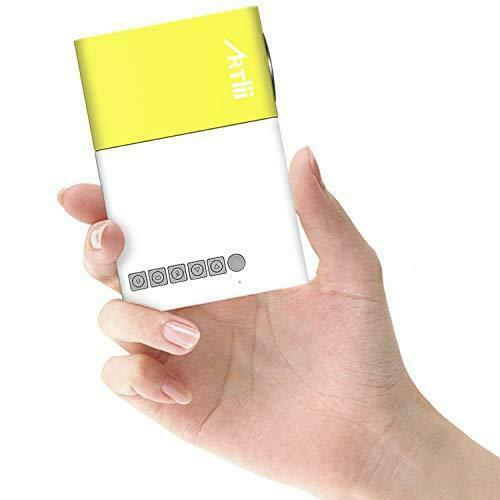 Mini Portable Mobile Pocket Projector for iPhone Android Smartphone Yellow NEW