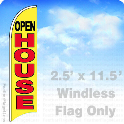 Open House - Windless Swooper Flag Feather Banner Sign 2.5x11.5 - Yb