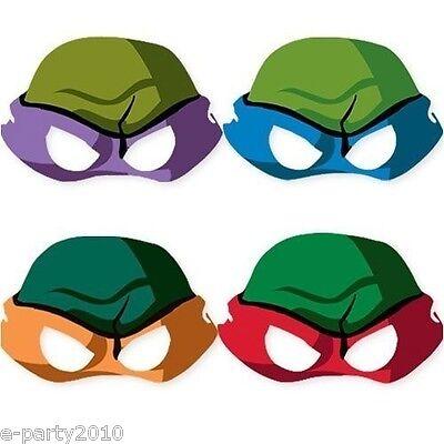 TEENAGE MUTANT NINJA TURTLES MASKS (8) ~ Birthday Party Supplies Favors TMNT - Ninja Turtles Birthday Party Supplies