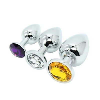 1 PC Butt Toy Insert Plug Stainless Steel Metal Jeweled Plated Stopper - $6.59