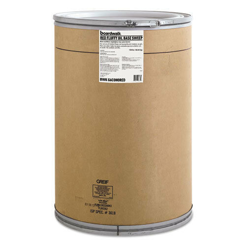 Boardwalk Oil-Based Sweeping Compound Grit-Free Red 150lbs Drum G6COHORED